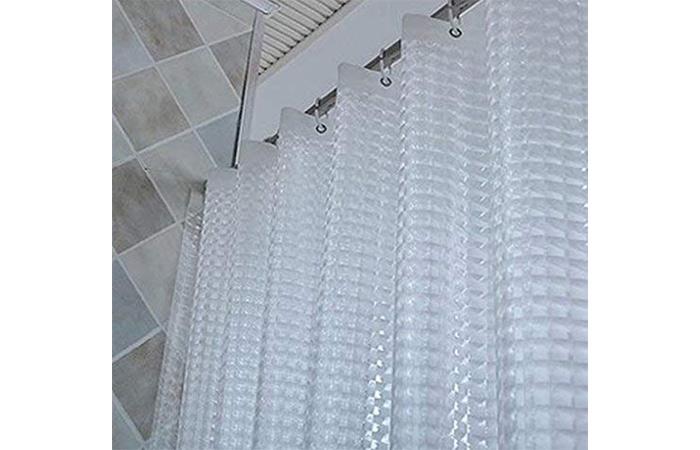 Yellow Weaves PVC Waterproof Shower Curtain