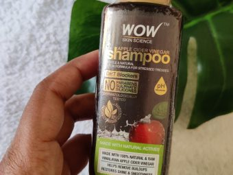 WOW Skin Science Apple Cider Vinegar Shampoo – No Parabens & Sulphate – 300 ml pic 2-Sulphate and Paraben free shampoo-By pooja_md