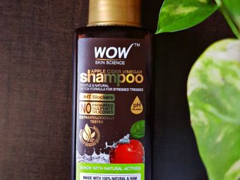 WOW Skin Science Apple Cider Vinegar Shampoo – No Parabens & Sulphate – 300 ml -Complete HairCare Package-By dressup_