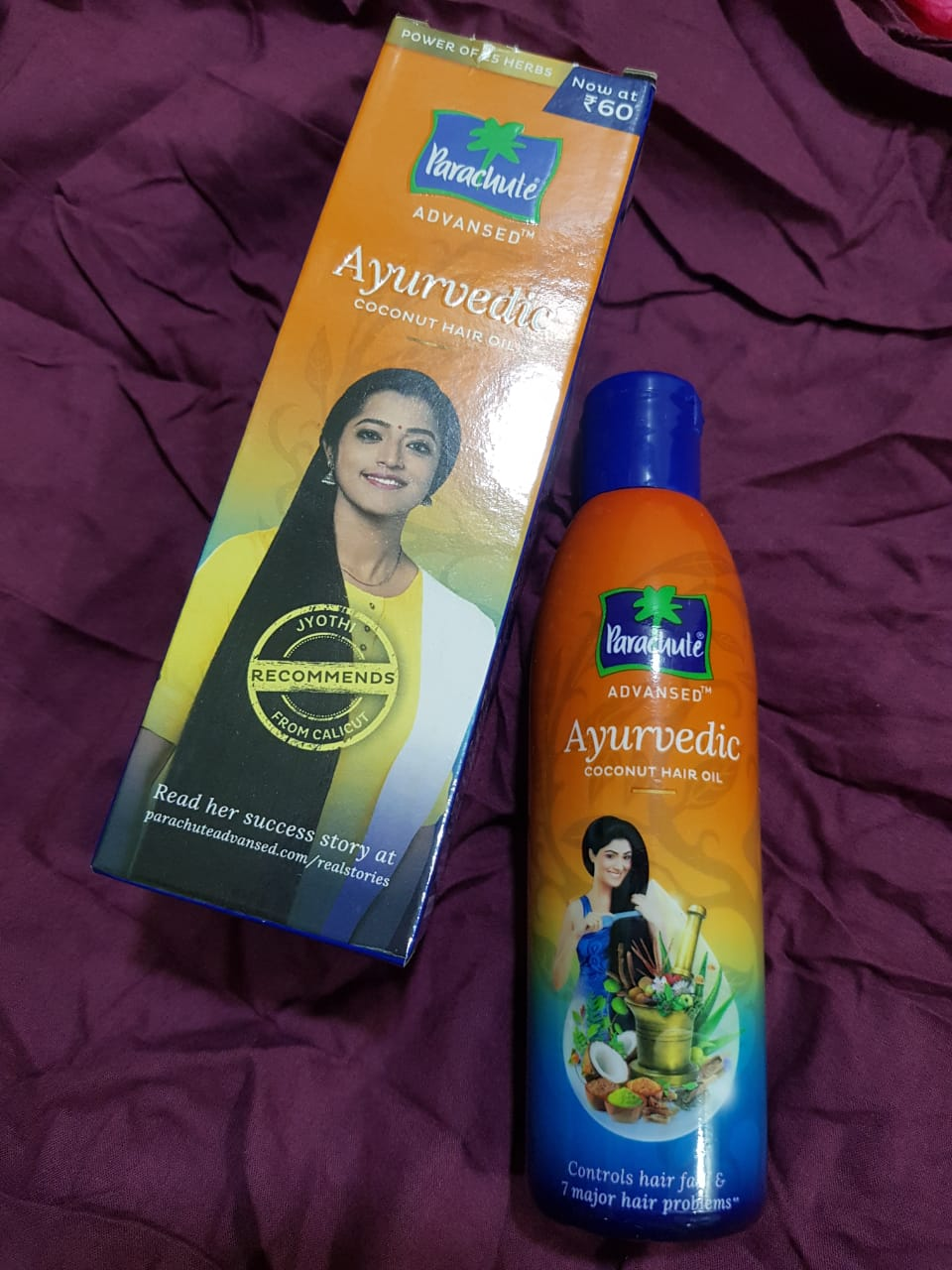 Parachute Advansed Ayurvedic Coconut Hair Oil -My Ayurvedic Oil-By smita_shukla