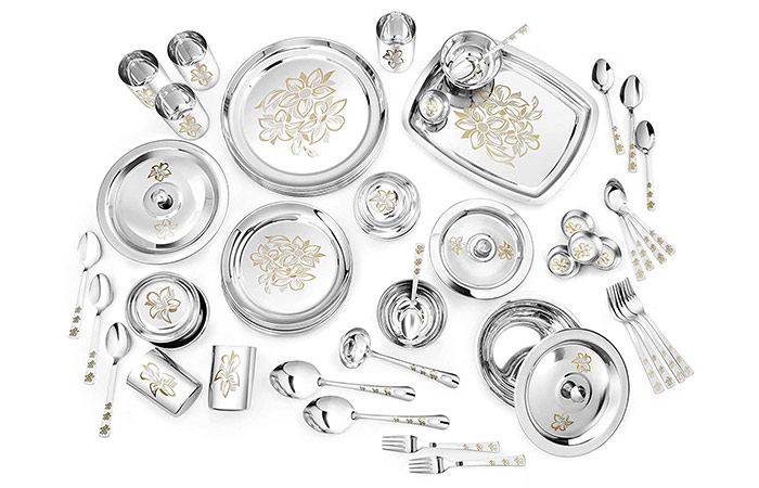 Classic Essentials Glory Stainless Steel Dinner Set