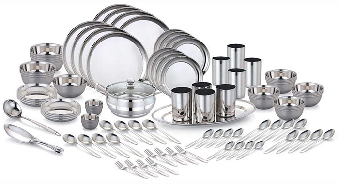 Pigeon Sapphire Stainless Steel 101 Pieces Dinner Set