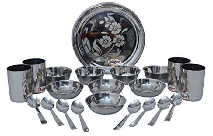 SAGER Platinum Collection Stainless Steel Dinner Set