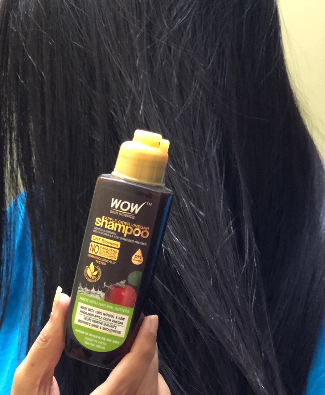 WOW Skin Science Apple Cider Vinegar Shampoo – No Parabens & Sulphate – 300 ml -perfect shampoo for hair fall-By priyankaraj