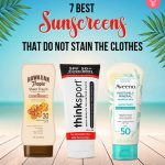 Best Sunscreens That Do Not Stain The Clothes