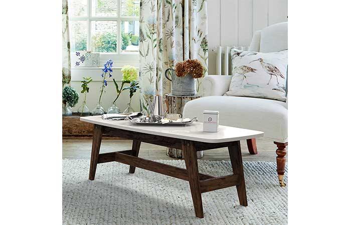 DecorNation Serene Wooden Coffee Table