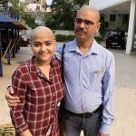 My dear friend is by my side, this time his father cut all his hair to be the companion of