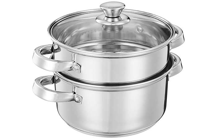 Solimo Stainless Steel Induction Bottom Steamer