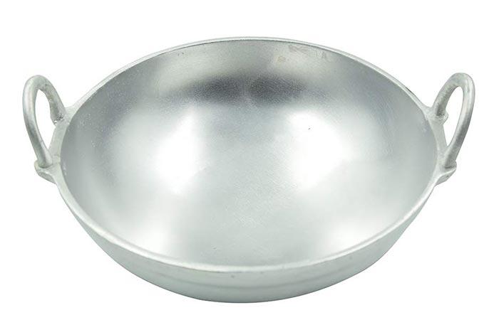 TAZBI Anodized Aluminum Kadai
