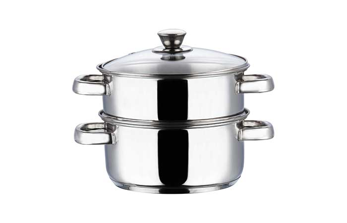 Vinod 2 Tier Steamer With Glass Lid