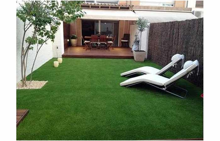 Yellow Weave High-Density Artificial Grass Carpet