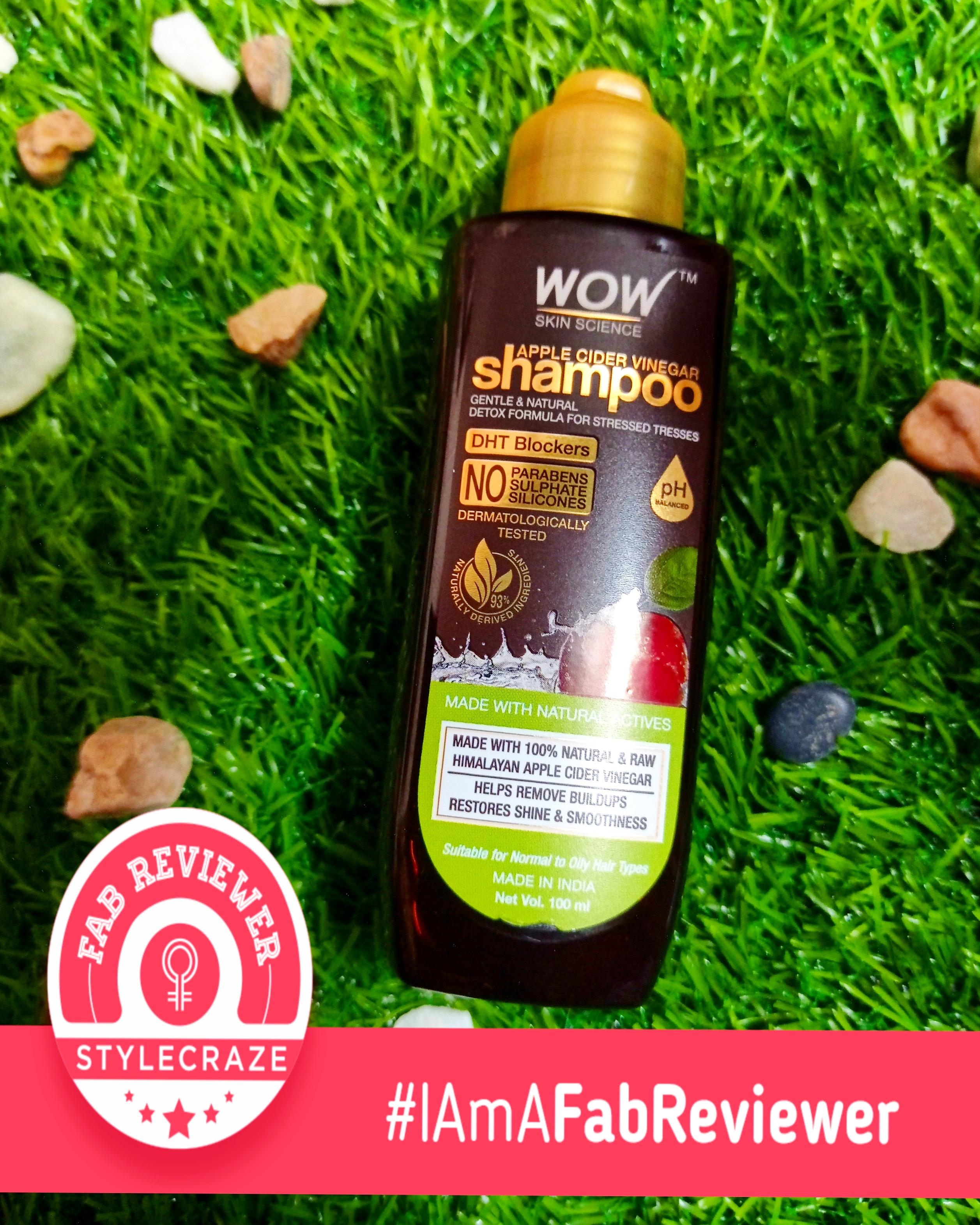 WOW Skin Science Apple Cider Vinegar Shampoo – No Parabens & Sulphate – 300 ml -Its just Wow-By nagapriya