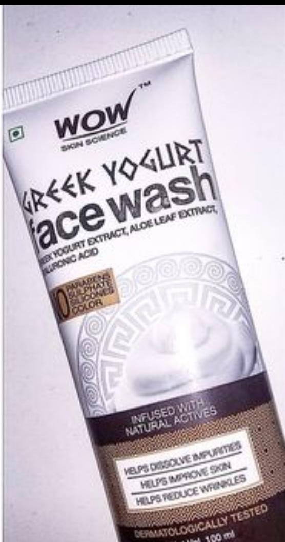 WOW Skin Science Greek Yogurt Gel Face Wash -Gentle cleanser-By rose_white