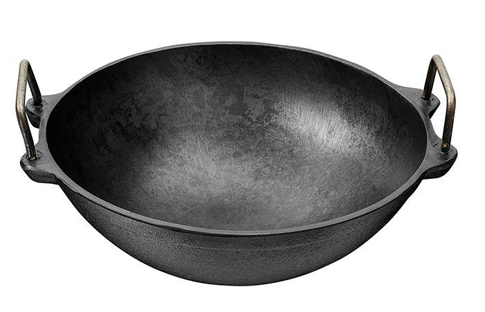 Butler Pre-Seasoned Cast Iron Cookware Kadai