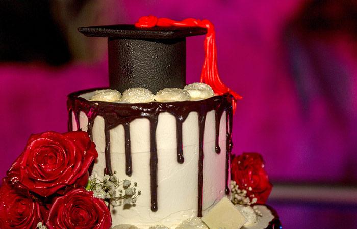 Red Velvet Graduation Cap Cake