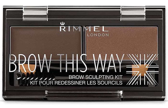 Rimmel London Brow This Way Brow Sculpting Kit – Dark Brown