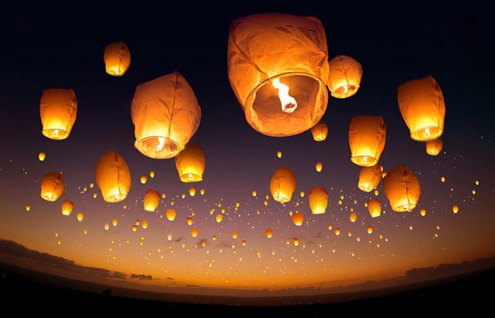 Send Off Paper Lanterns