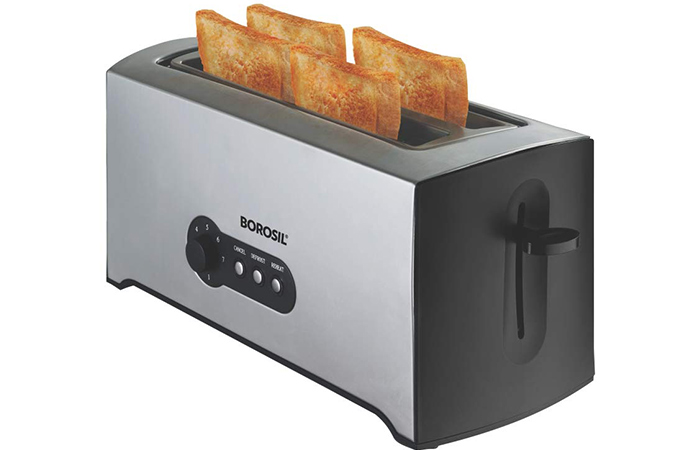 Borosil BT01500SS22 4-Slice Pop-Up Toaster