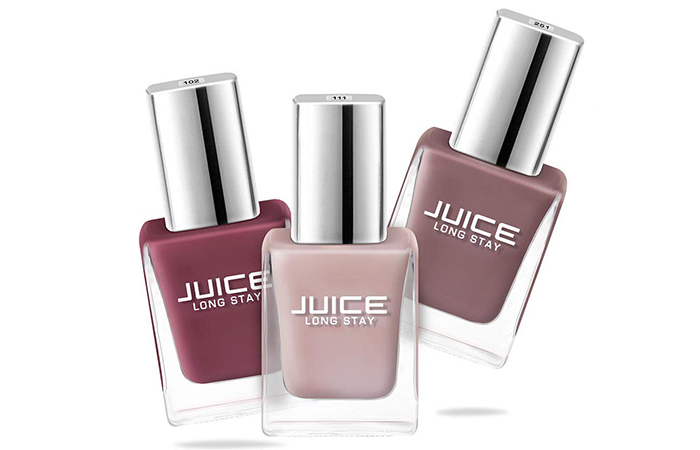 JUICE Long Stay Nail Polish – Pack of 3 (Sun Kissed / Dusty Coral / Camel NUDE)