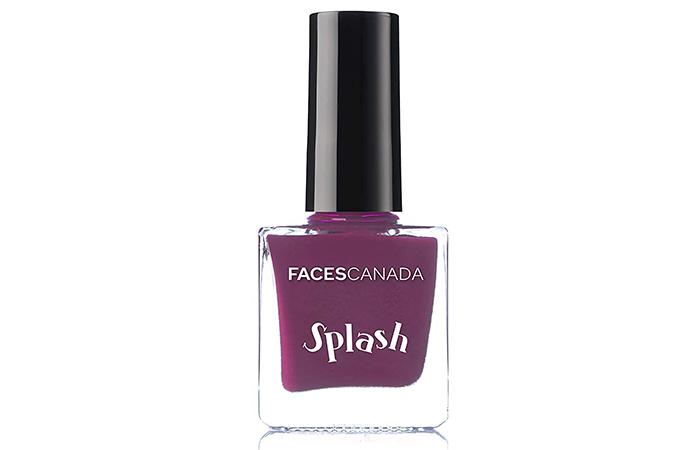 Faces Canada Glossy Splash Nail Enamel – Purple Rain 19