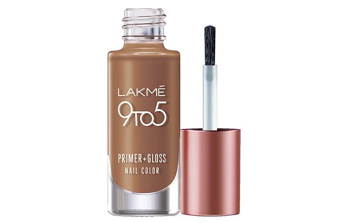 Lakmé 9To5 Primer+Gloss Nail Color – Caramel Case