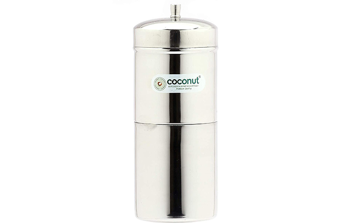 Coconut Stainless Steel Filter Coffee Maker