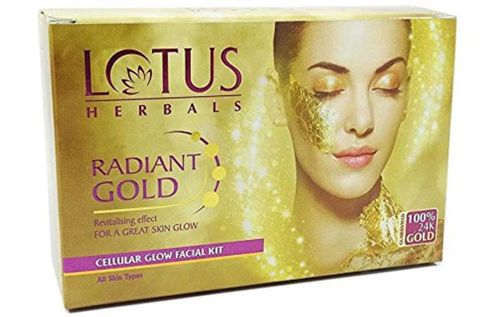 Lotus Herbals Radiant Gold Facial Kit