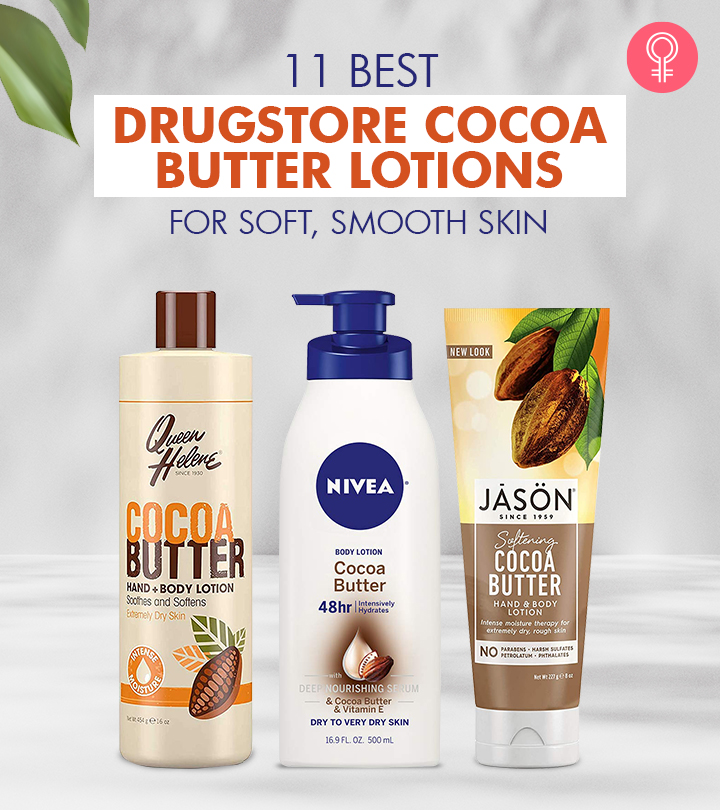 11 Best Drugstore Cocoa Butter Lotions For Soft, Smooth Skin
