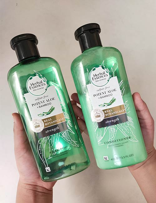 Herbal Essences Potent Aloe Bamboo Shampoo Conditioner Review