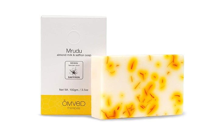 Omved Therapies Mrudu Almond Milk & Saffron Soap