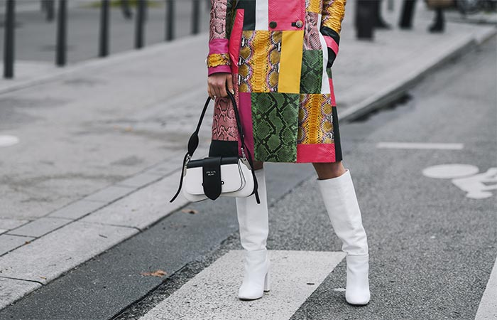 White Knee High Boots