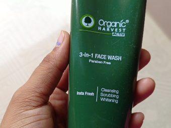 Organic Harvest 3-in-1 Face Wash Paraben Free -Best face wash-By gayatri_rana