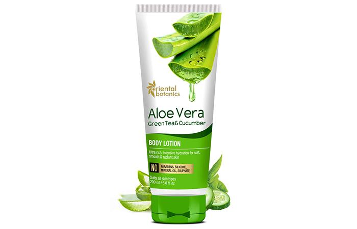 Oriental Botanics Aloe Vera, Green Tea & Cucumber Body Lotion