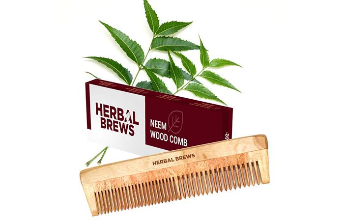 Herbal Brews Neem Wood Comb