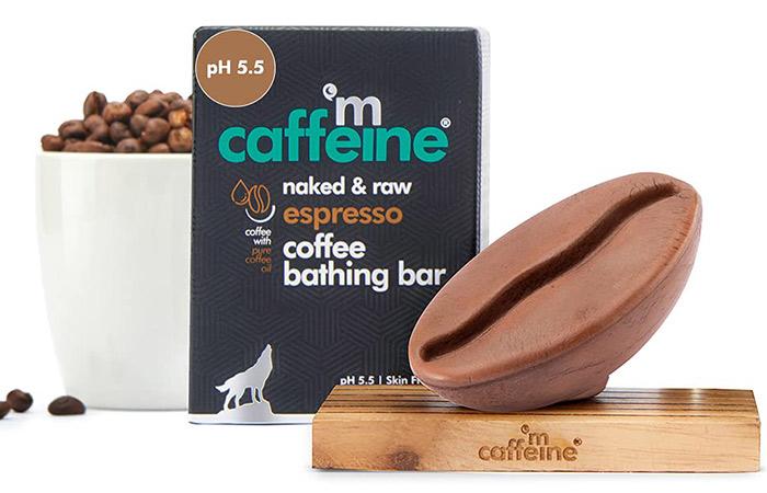 mCaffeine Naked & Raw Espresso Coffee Bathing Bar