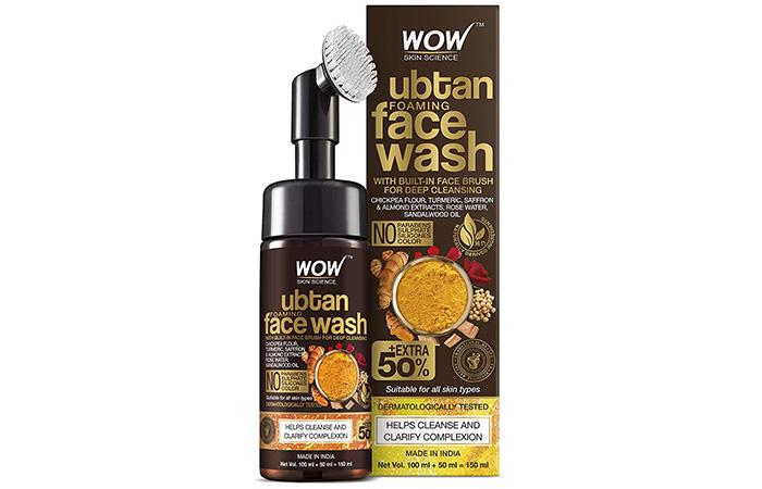 Wow Skin Science Ubtan Foaming Face Wash