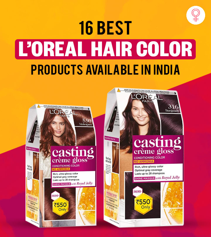 16 Best L'Oreal Hair Color Products Available In India