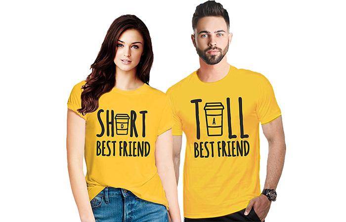 मैचिंग कपल टी-शर्ट