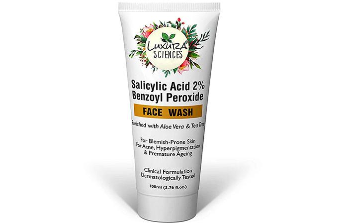 Luxura Sciences Salicylic Acid 2% Benzoyl Peroxide Face Wash
