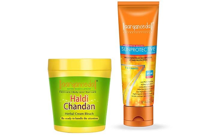Aryanveda Haldi Chandan Herbal Cream Bleach