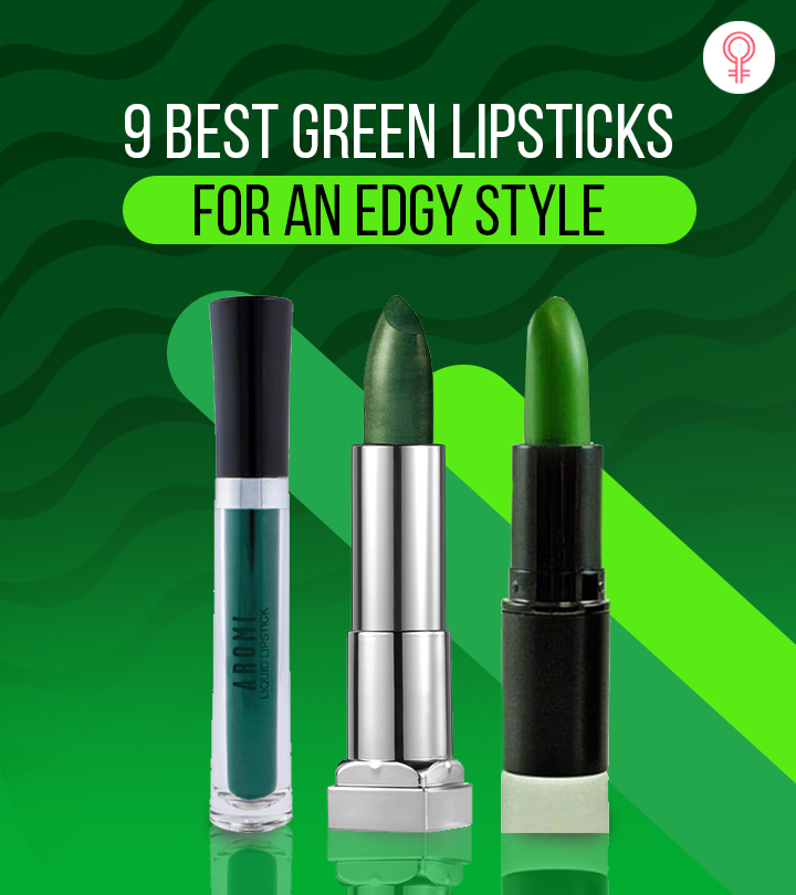 9 Best Green Lipsticks For An Edgy Style