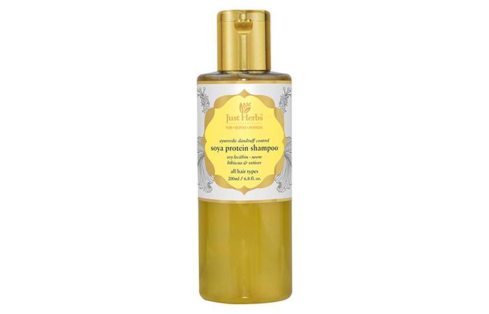 Just Herbs Ayurvedic Dandruff Control Soya Protein Shampoo