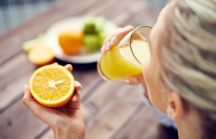 Drink Plenty Of Freshly Squeezed Orange Juice