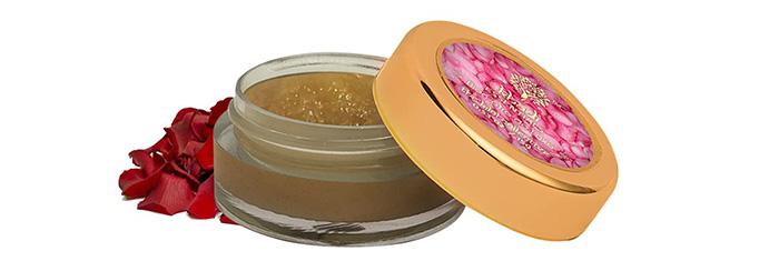 Khadi Essentials Rose Petals And Dates Lip Scrub