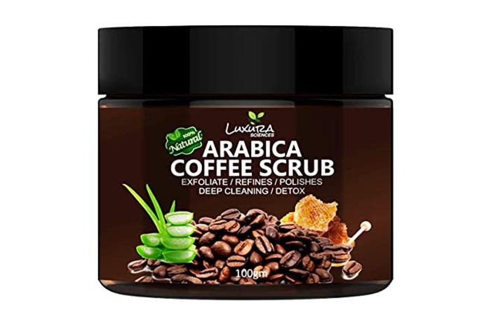 Luxura Sciences 100% Natural Arabica Coffee Scrub
