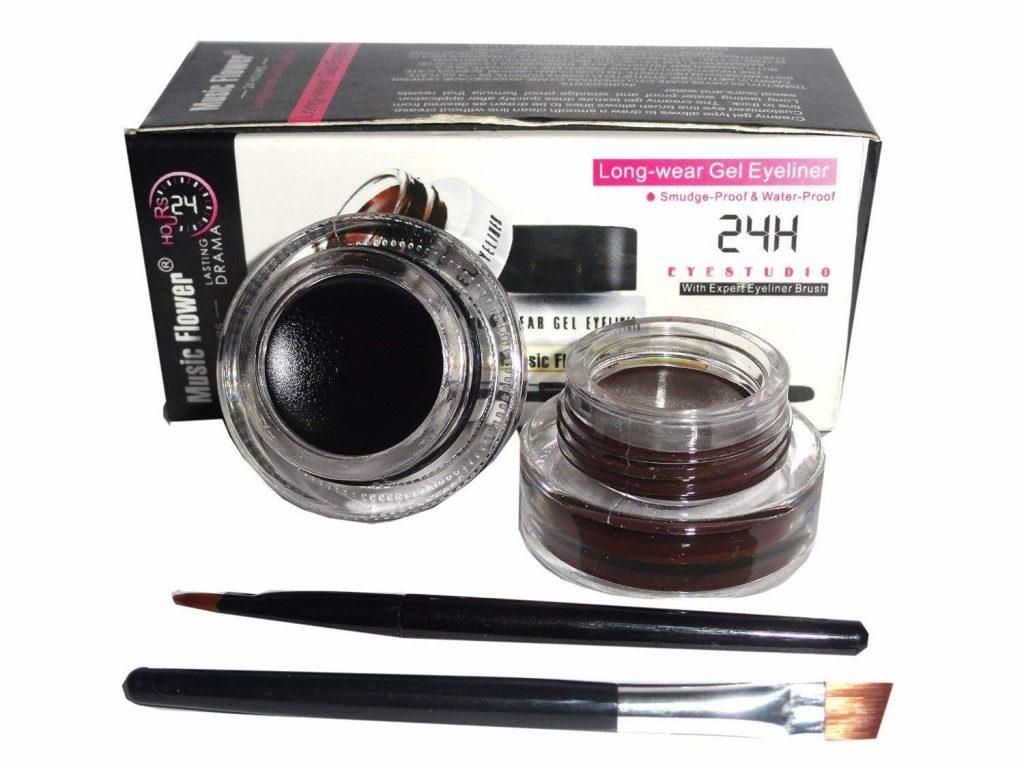 Music Flower Long-Wear Gel Eyeliner - Black And Brown