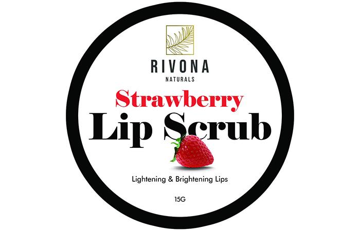 Rivona Strawberry Lip Scrub