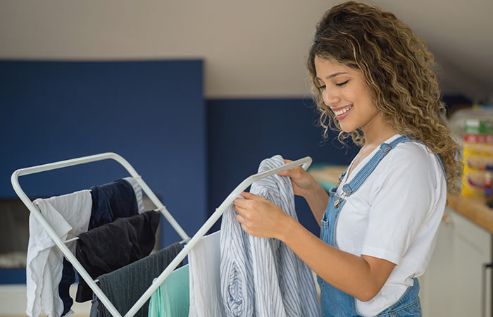 Use A Clothes Rack (Can Be Used Indoors)