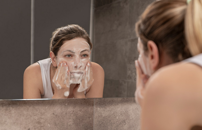 Use A Gentle, Soap-Free Cleanser