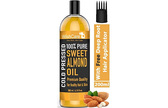 WishCare Cold Pressed 100% Pure Sweet Almond Oil